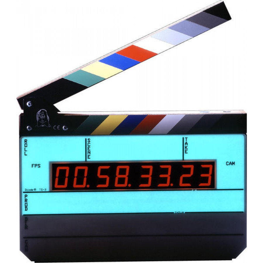 Denecke Dcode Time Code Slate w/ Backlight TS-3EL