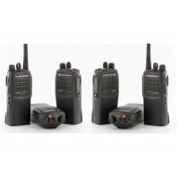 Motorola Pack 6 walkies + Six-way charger + 6 head set (RENTAL)