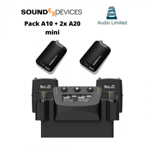 Sound Devices A-20 Mini Transmitter and Audio Limited A10 Dual Receiver Pack