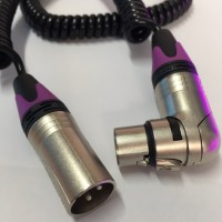 SOSE cable COILED XLR (M) - XLR (F) Angled 60cm Neutrik